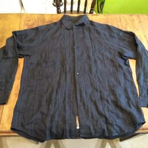Men's Tommy Bahama Solid Black Casual Shirt XL